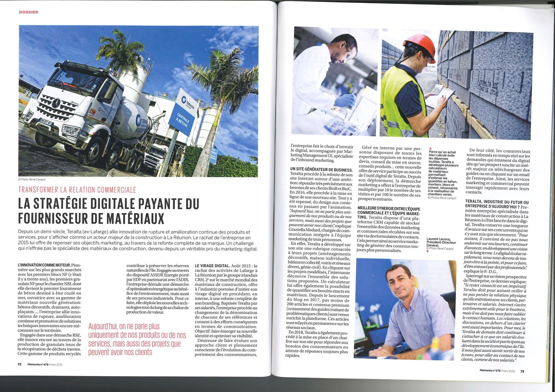 Article Mémento_TERALTA La Stratégie Digitale payante du fournisseurs de matériaux_Mars 2019 (2)