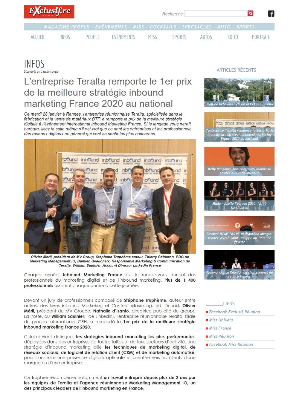 exclusif.re-teralta-premier-prix-strategie-inbound-marketing-france-2020