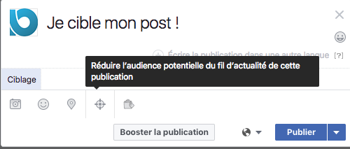 cible mon post facebook