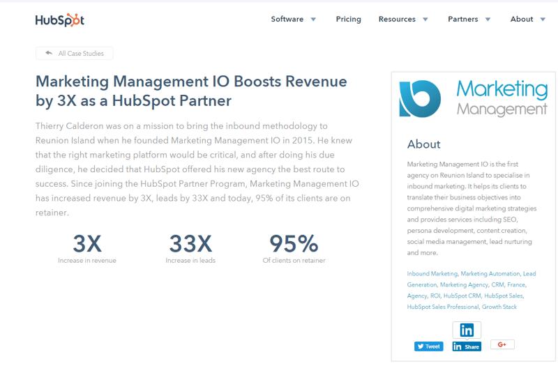 Etude de cas MMIO inbound marketing contenu web